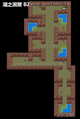 勇者鬥惡龍2地圖 湖之洞窟 B2