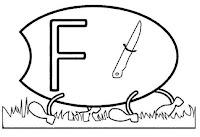 Alfabeto centopeia letra F