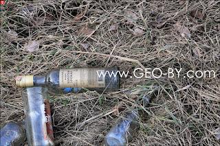 Пустые бутылки от водки