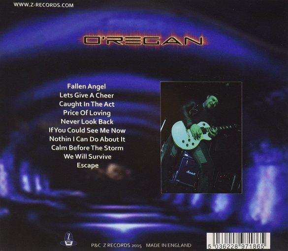 O'REGAN - Tunnel Vision (CD version) back