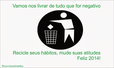 Manual para 2014 - Recicle seus hábitos!