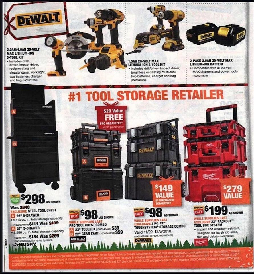 Home Depot Black Friday tools 2018 ad