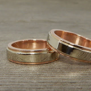 rose white gold wedding bands recycled