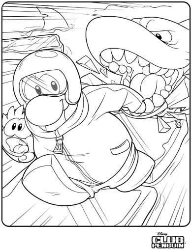 club penguin coloring pages of rockhopper exploration | Club Penguin Coloring Pages Of Rockhopper – Colorings.net