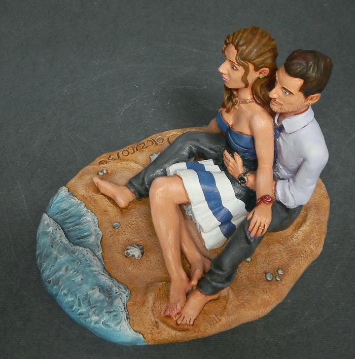 cake topper artistici realistici personalizzati statuine fidanzati orme magiche