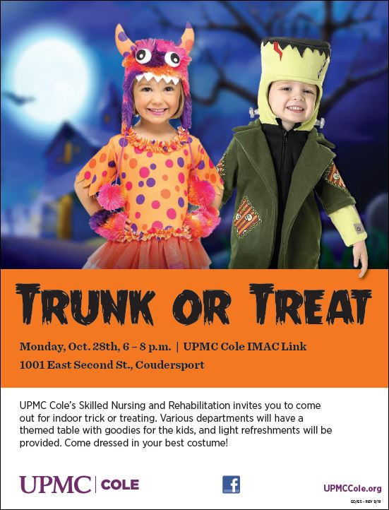 10-28 Trunk or Treat, UPMC Cole, Coudersport, PA