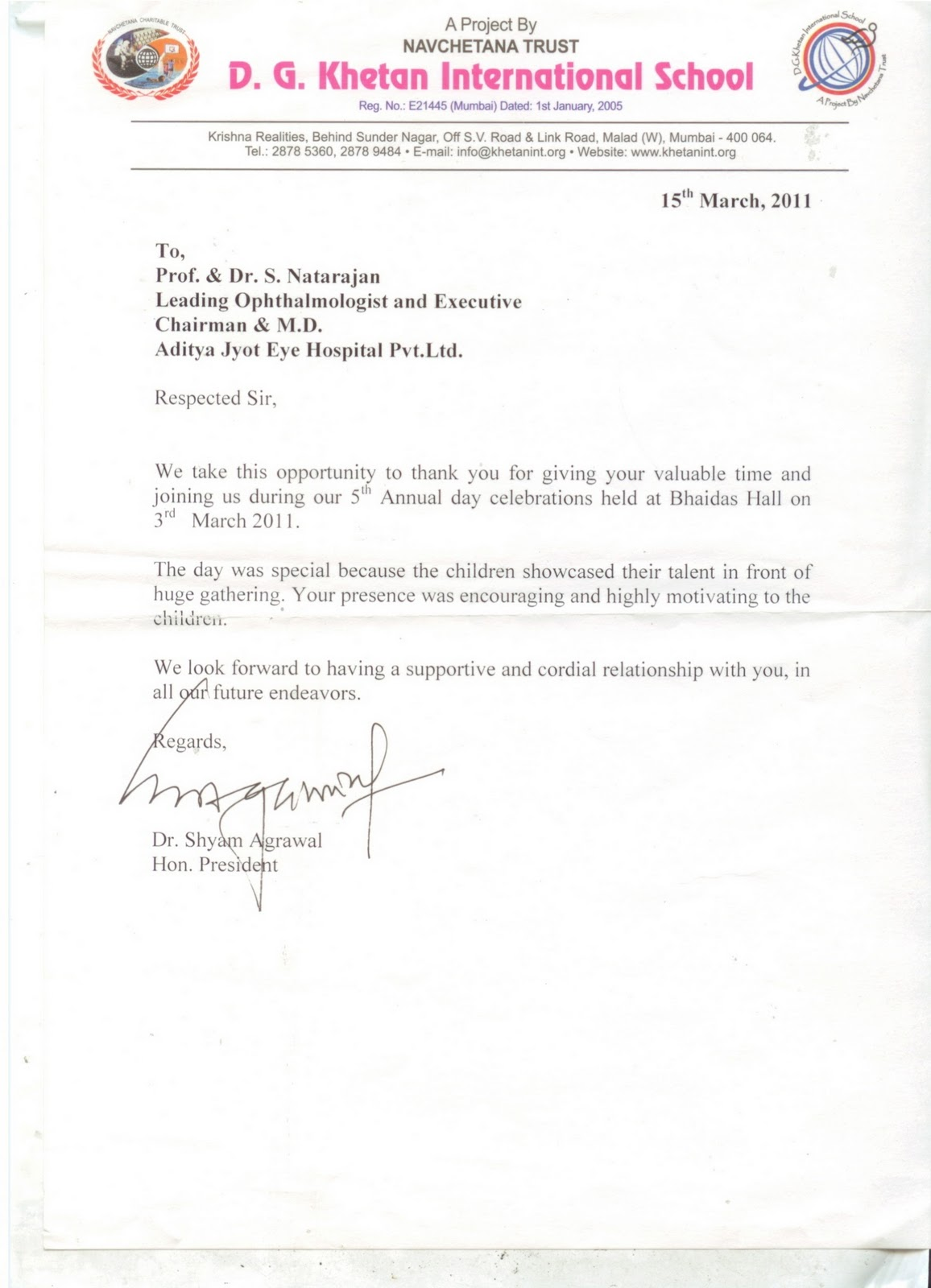 Thank You Letter For Seminar Speaker Image collections Letter