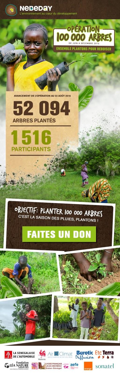Don à l'opération 100 000 arbres