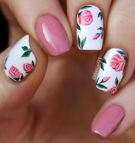 awesome floral nail art design