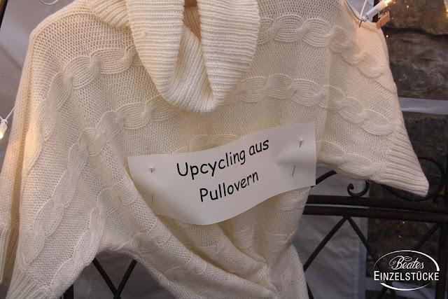Upcycling aus Pullovern beim Herbstmarkt 2017