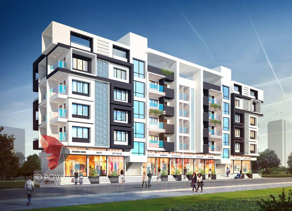 Township Apartments Design  3D Rendering
