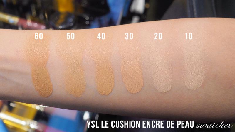 YSL Le Cushion Encre de Peau Fusion Ink Cushion Foundation Swatch