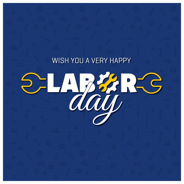 Beautiful labor day design Free Vector