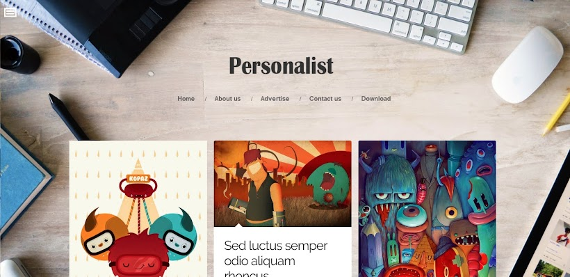 Personalist Free Blogger Template
