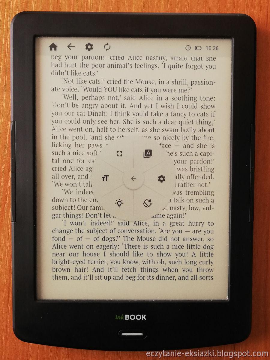 PocketBook Reader InkBOOK LUMOS – drugi panel menu e-booka