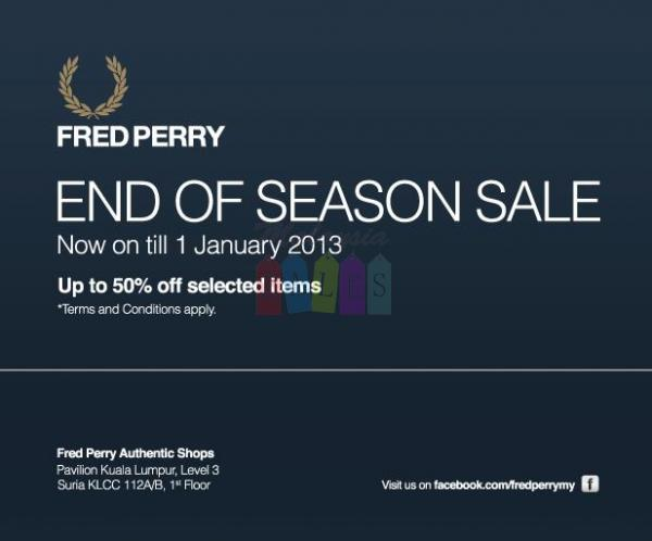 Sales in Malaysia: FRED Perry end of season sale