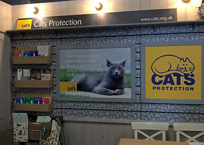 New indoor Cats Protection stand