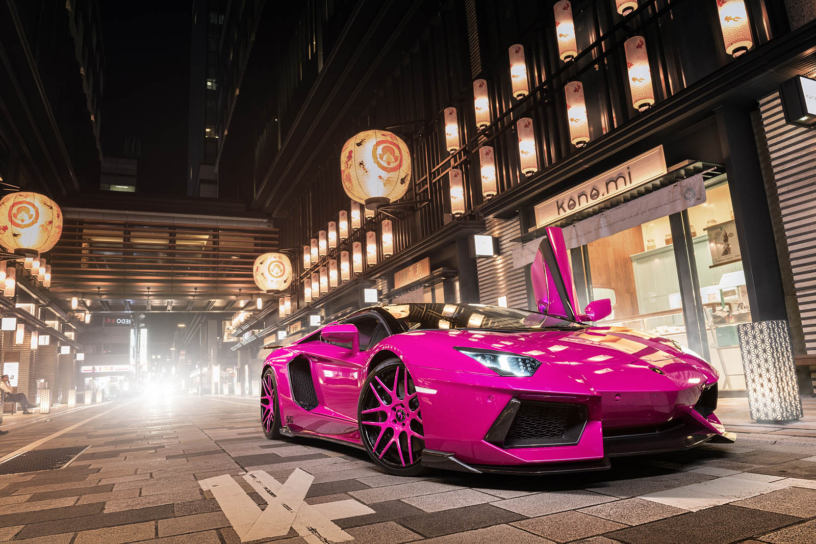 How Much To Paint A Car >> Pink Lamborghini Aventador Turns Heads In Tokyo | Carscoops