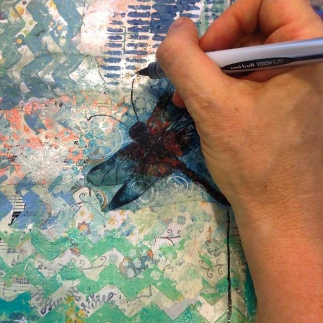 art journal page by @schulmanArt