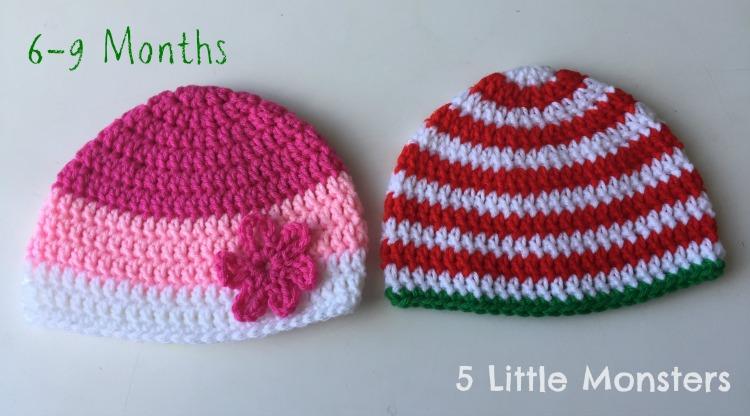 f89240ff1c5 5 Little Monsters  Basic Double Crochet Hats  Preemie-Adult