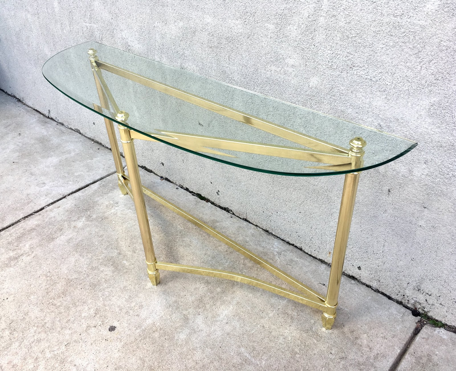 Uhuru Furniture Collectibles Brass Glass Sofa Table 50 Sold