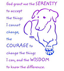 dog serenity prayer design