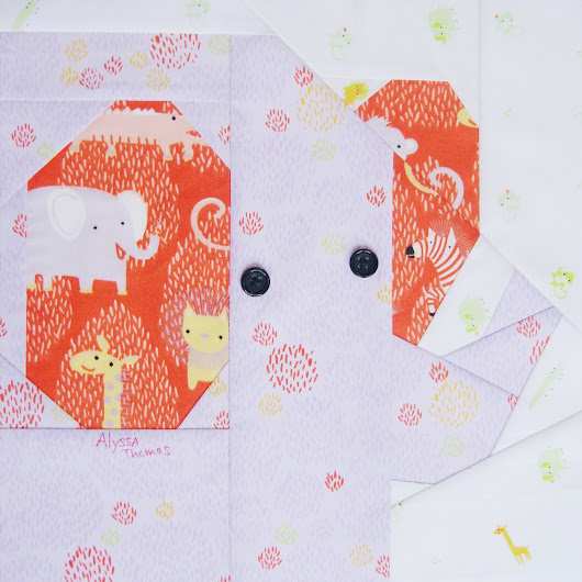 The cutest Foundation Paper Pieced hexie pattern by Tiny Toffee Designs