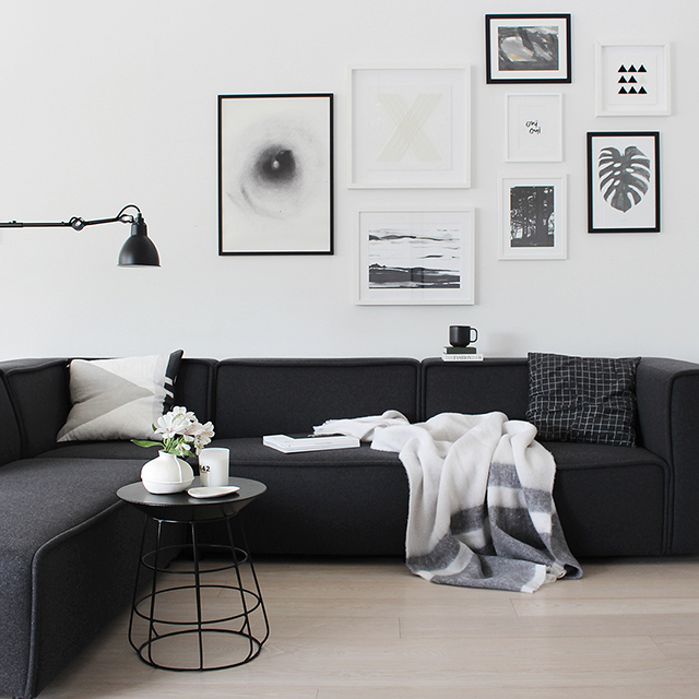 T d c at home with the benny by kate kate - Black and white lounge room ...