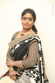 Telugu Actress Jayavani Jayavani Stills in Black Saree at Intlo Deyyam Nakem Bhayam Success Meet  0056.JPG