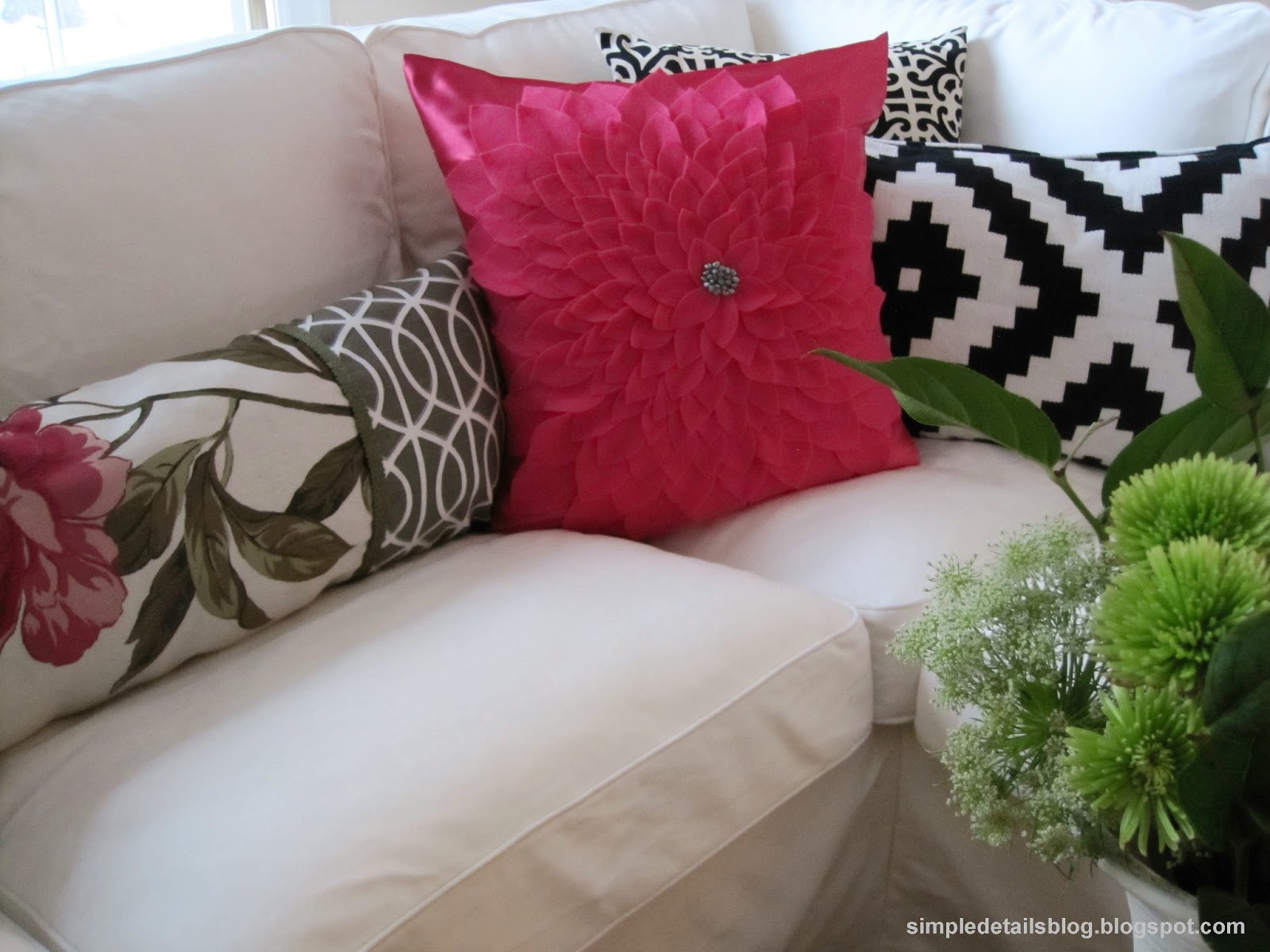 Simple Details Diy Flower Petal Pillow