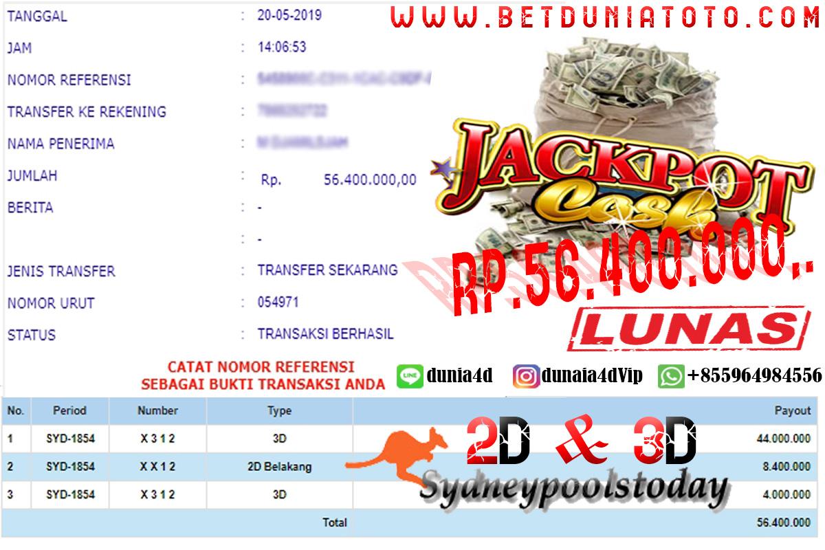 50 JUTA Cair Dalam Sekejap, JACKPOT SYDNEY POOLS