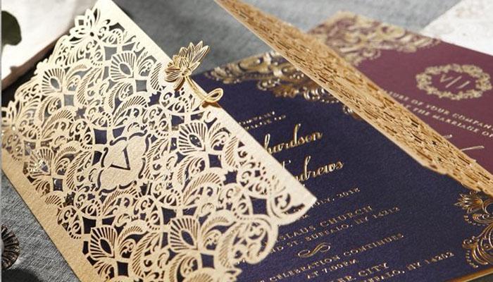 Contoh Undangan Pernikahan Teknik Laser Cutting