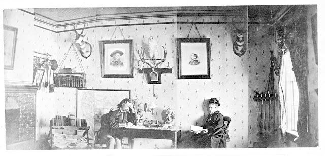 General George Armstrong Custer Inside Home With Wife