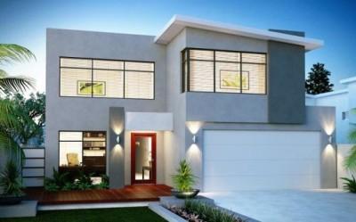 Bentuk Rumah Minimalis Type 45 Modern 2 Lantai - Rumah_Kita