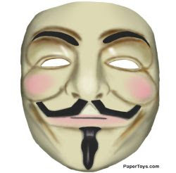 maschera anonymous per Halloween