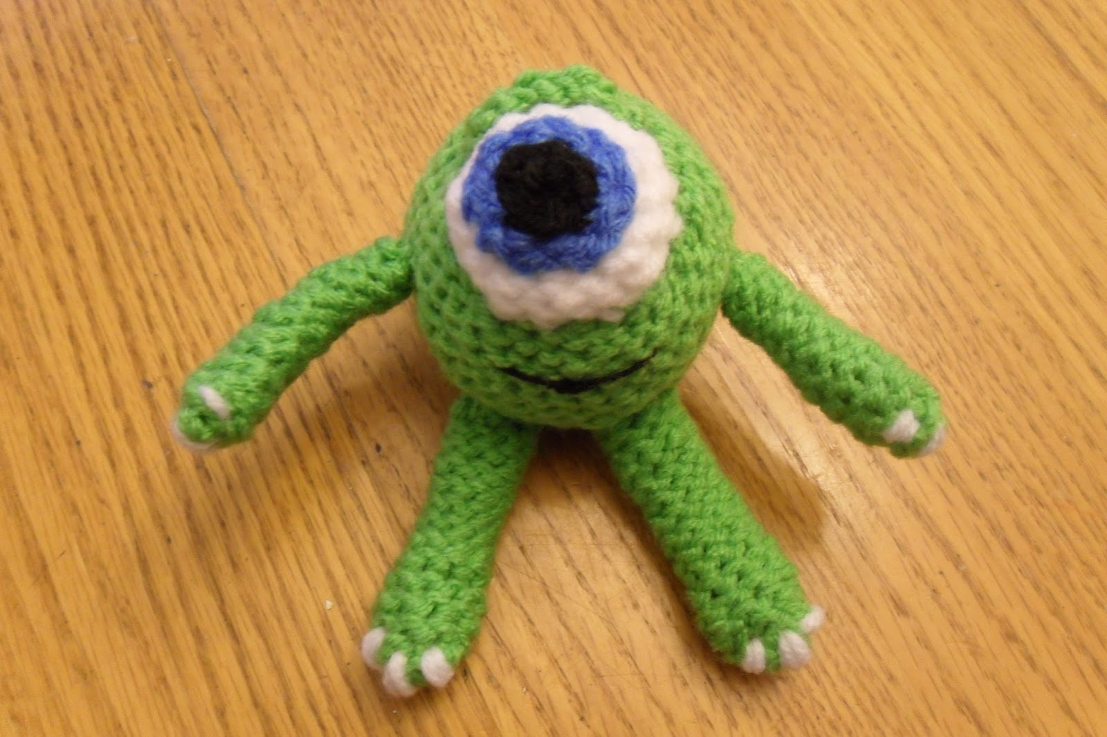 Crochet Mike the Monster from Monsters University! | Shiny Happy World | 1066x1600