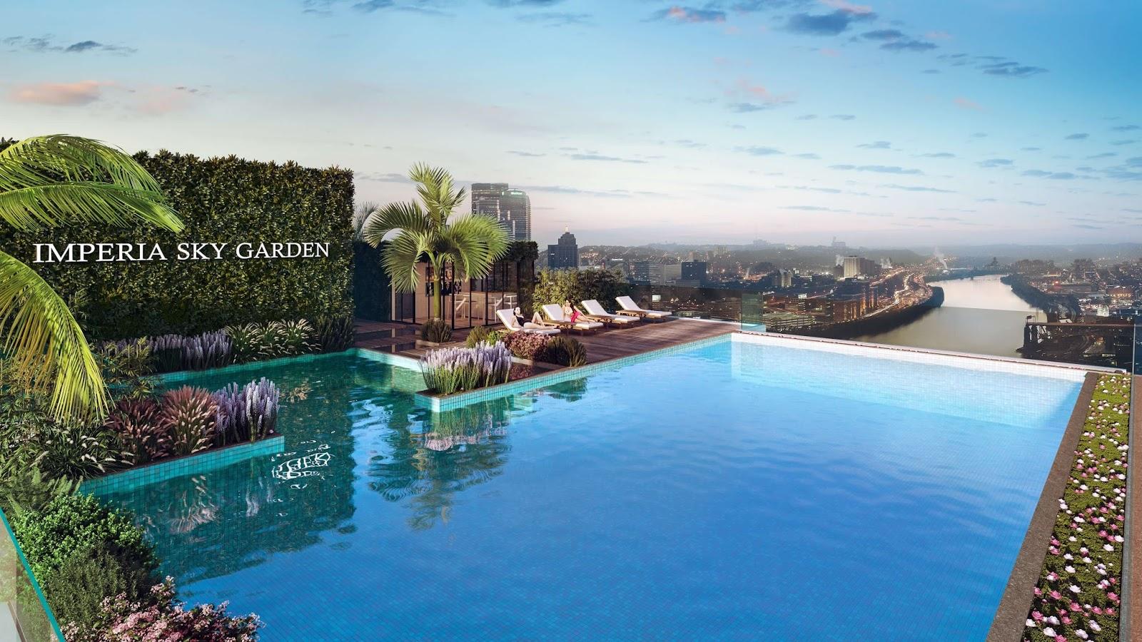 Tiện ích bể bơi chung cư Imperia Sky Garden