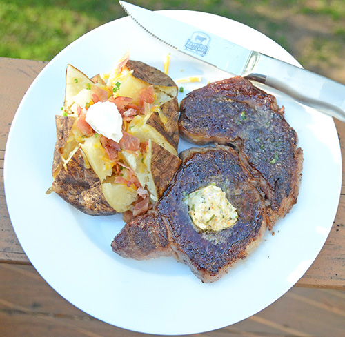 Ribeye Steak with Cajun Compound Butter featuring Certified Angus Beef® Brand