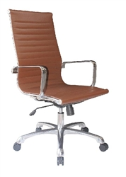 Joplin High Back Leather Chair