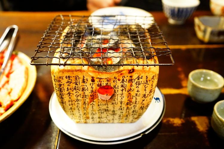 Bonnes adresse de resto à Takayama Barbecue de table Schichirin  - Le Chameau Bleu