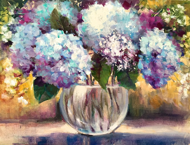 Hydrangea Paintings Painting Day Small Masterpieces