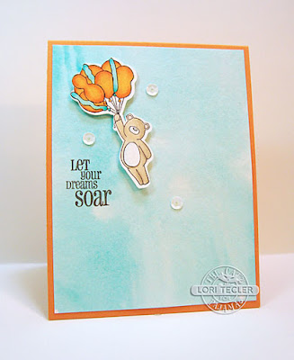 Let Your Dreams Soar card-designed by Lori Tecler/Inking Aloud-stamps from The Cat's Pajamas