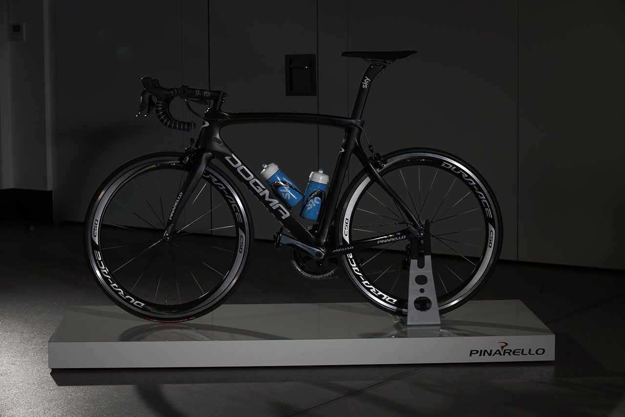 Jaguar, Team Sky and Pinarello - Tour de France racing bike side