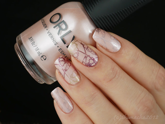 Orly : Silken Quartz (Velvet Dream Collection), Dixie Paltes : DP-02, スタンピングネイル