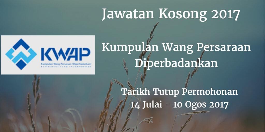 Jawatan Kosong KWAP 14 Julai - 10 Ogos 2017