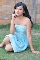 Sahana New cute Telugu Actress in Sky Blue Small Sleeveless Dress ~  Exclusive Galleries 050.jpg
