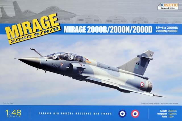 Mirage 2000B/N/D kinetic 1/48