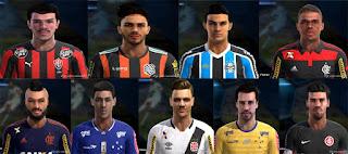 Faces: Faces: Alex Muralha, alipio, alisson, araujo, cuellar, fabio, Junior, Marciel, Renato Kayser, Pes 2013
