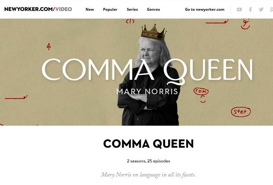 The New Yorker Comma Queen Video Series