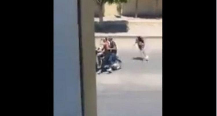 Video: Hace el #ChonaChallenge y le roban su bolso.